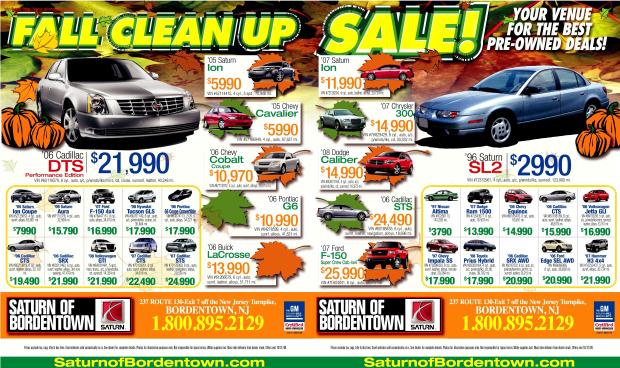 Saturn of Bordentown,NJ saturn car dealers