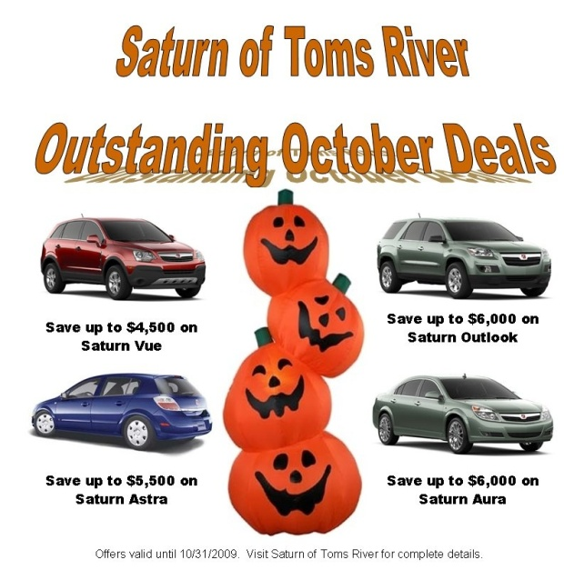 Outstanding October deals - Saturn - Toms River