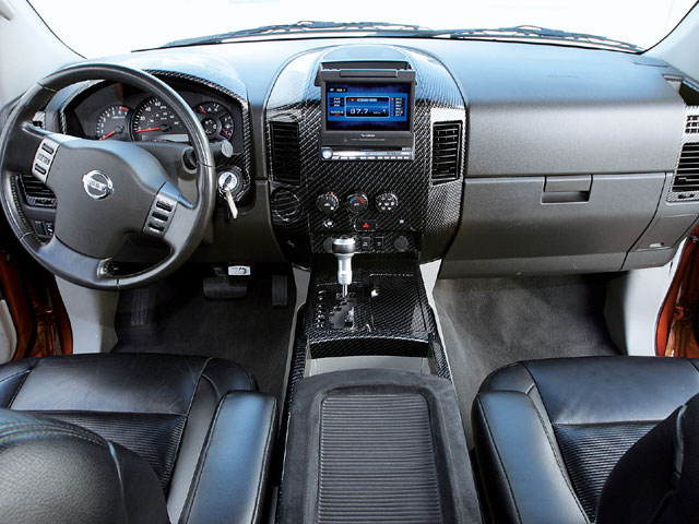 Truck reviews the maguire auto blog - Nissan titan interior accessories ...