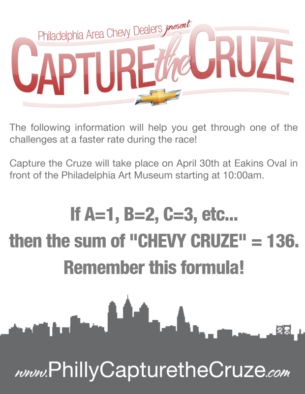 Bob Maguire Chevrolet in Bordentown, NJ Participating in Capture the Cruze