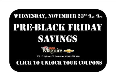 2011 Black Friday Savings at Bob Maguire Chevrolet
