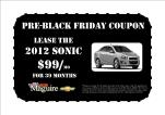pre black friday sonic coupon