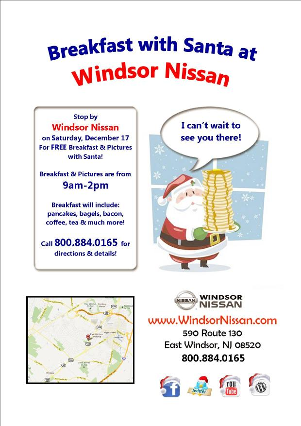 Breakfast with Santa at Windsor Nissan