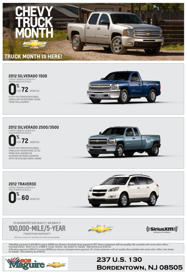 Truck Month is APRIL at Bob Maguire Chevrolet