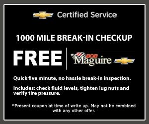 Bob Maguire Chevy Service Special