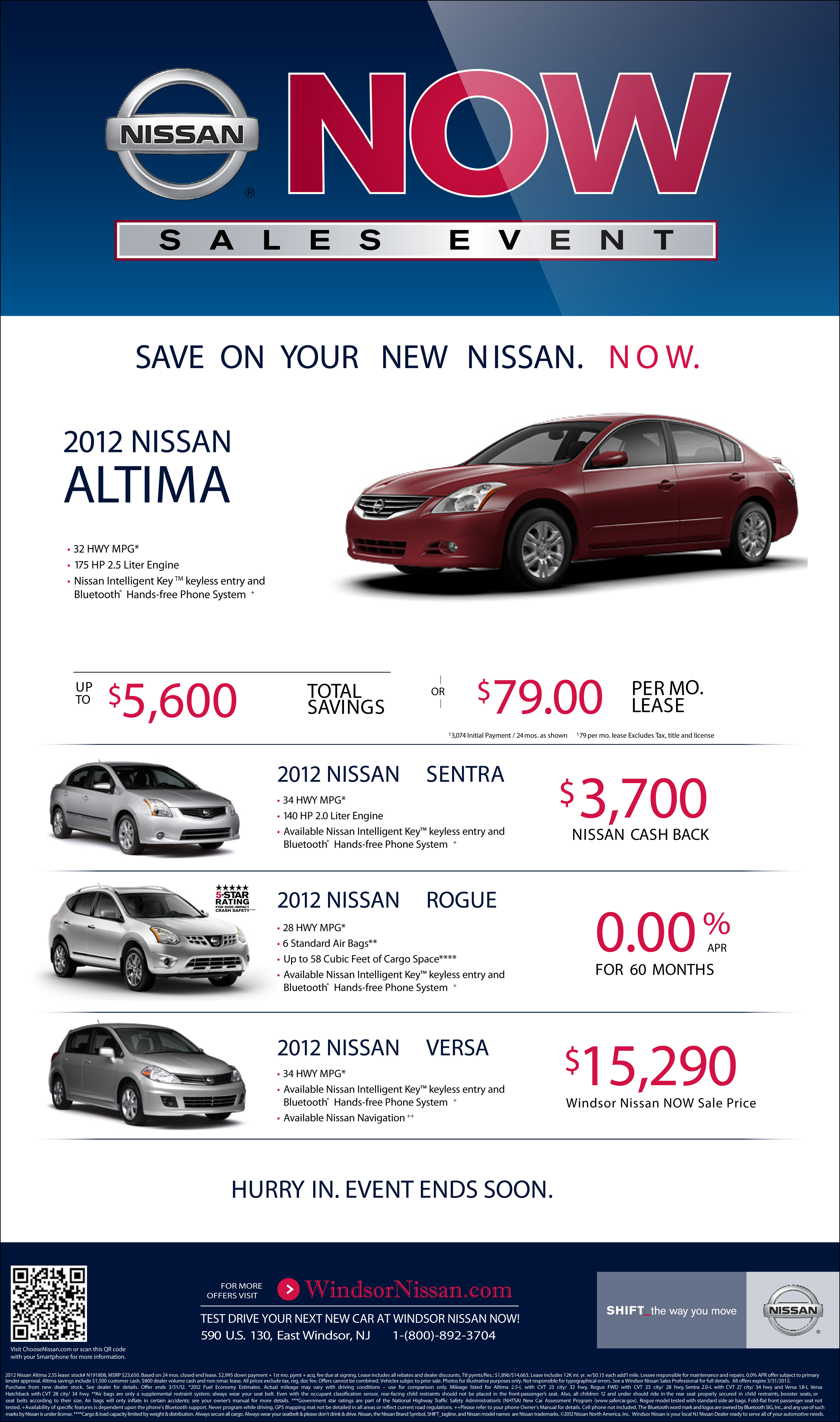 Nissan Now Sales Event Savings The Maguire Auto Blog