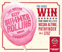 Keep Summer Rolling Sweepstakes at Windsor Nissan